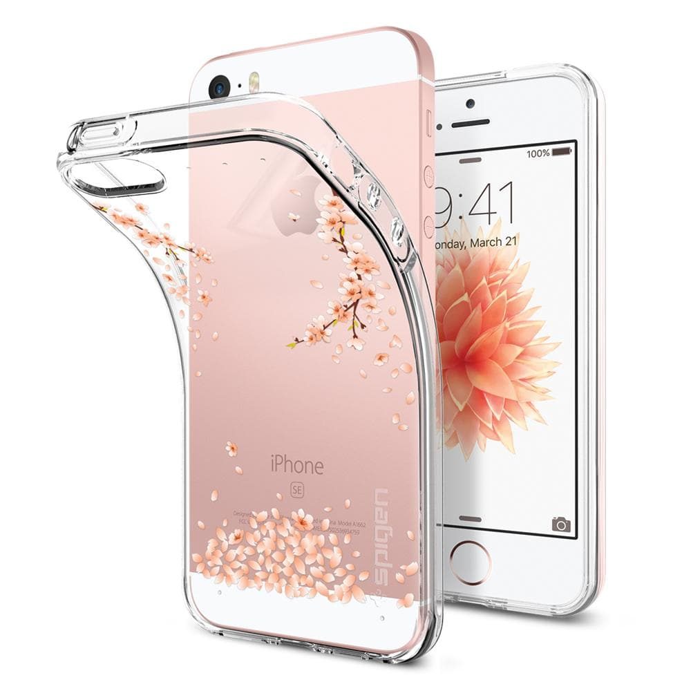 Liquid Air	Shine Blossom	Case	back design and a front view of the edge around the	iPhone SE/5s/5	device.