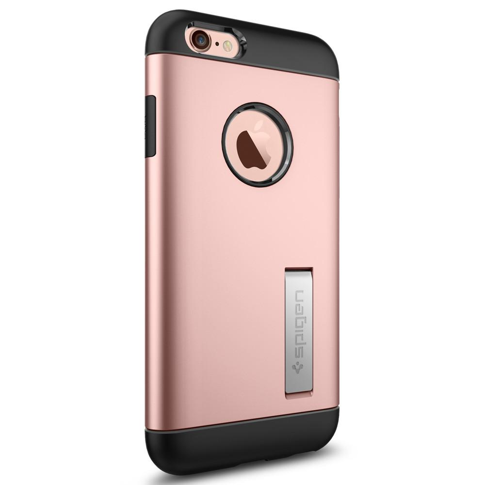 Slim Armor 	Rose Gold	facing backwards showing the back design with the camera cutout on the	iPhone 6S	device.