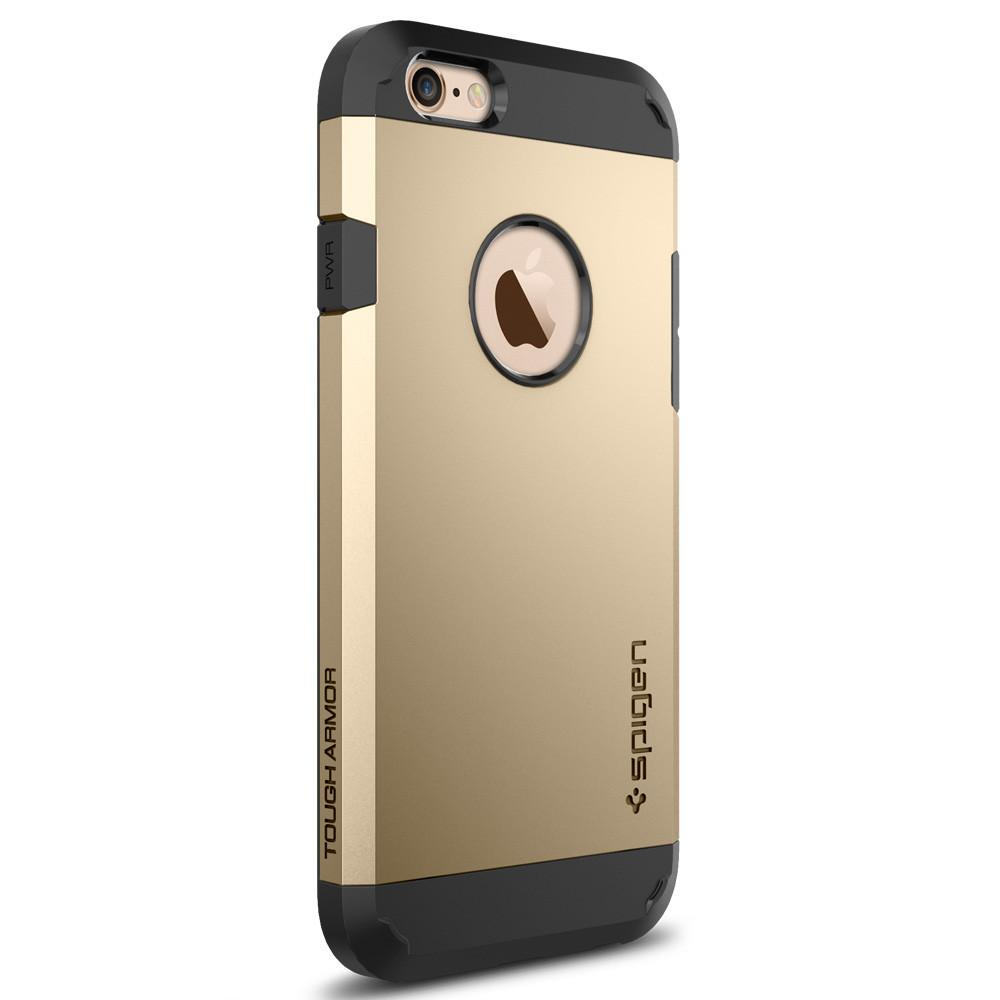 Tough Armor	Champagne Gold	facing backwards showing the back design with the camera cutout on the	iPhone 6S	device.