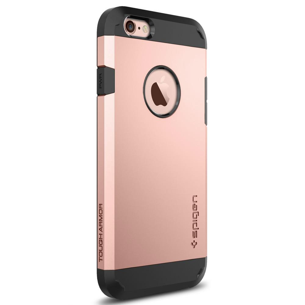 Tough Armor	Rose Gold	facing backwards showing the back design with the camera cutout on the	iPhone 6S	device.