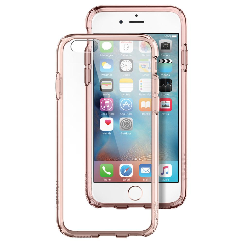 Ultra Hybrid	Rose Crystal back design and a front view of the edge around the	iPhone 6S	device.