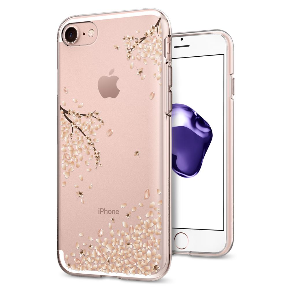 Liquid Crystal Blossom	Crystal Clear	Case	back design and a front view of the edge around the	iPhone 7	device.