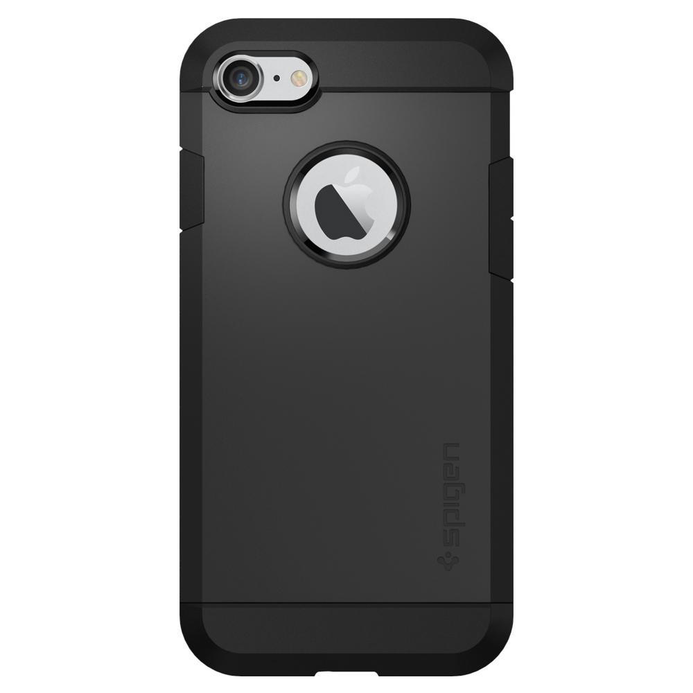 Tough Armor	Black	Case	facing backwards showing the back design with the camera cutout on the	iPhone 7	device.