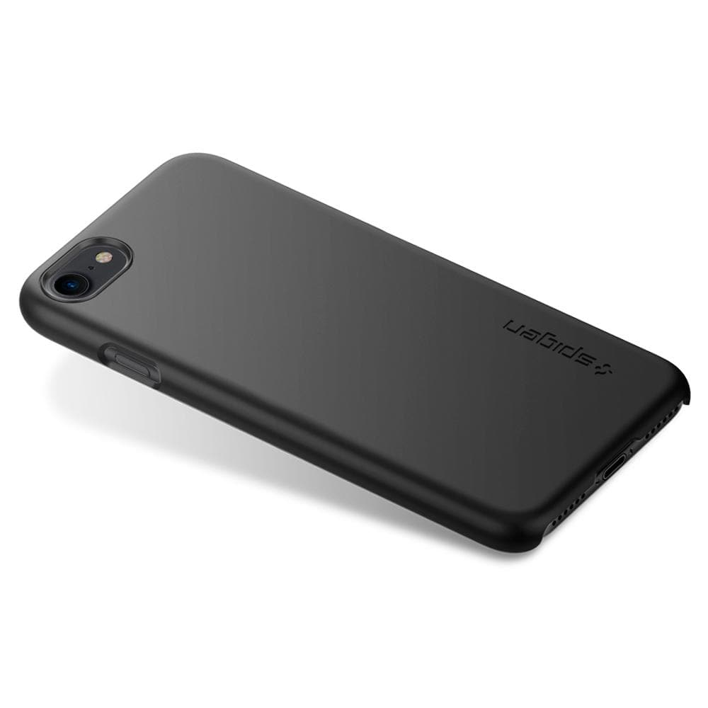 Thin Fit	Black	Case	facing backwards showing the back design with the camera cutout on the	iPhone 7	device.