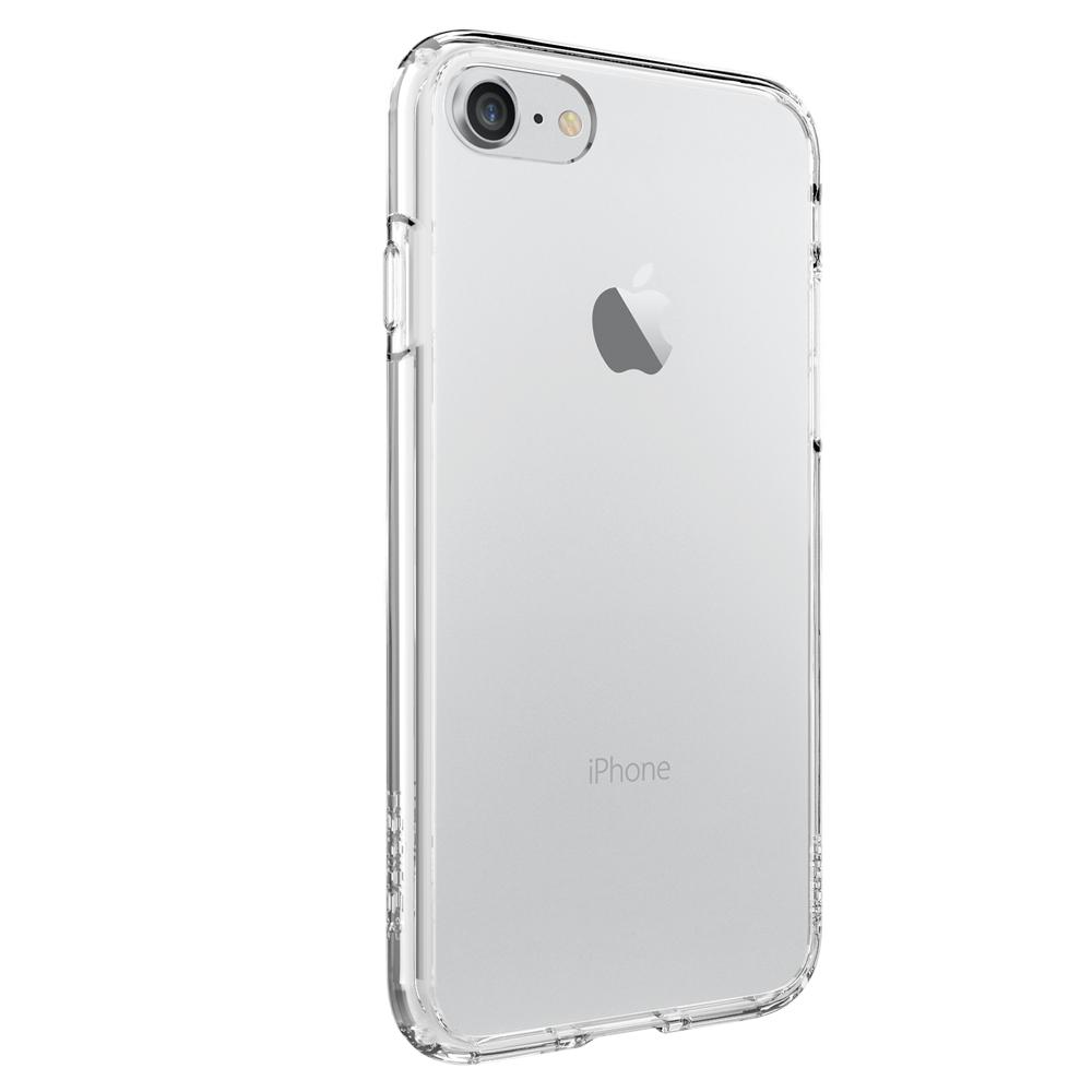 Ultra Hybrid	Crystal Clear	Case	facing backwards showing the back design with the camera cutout on the	iPhone 7	device.