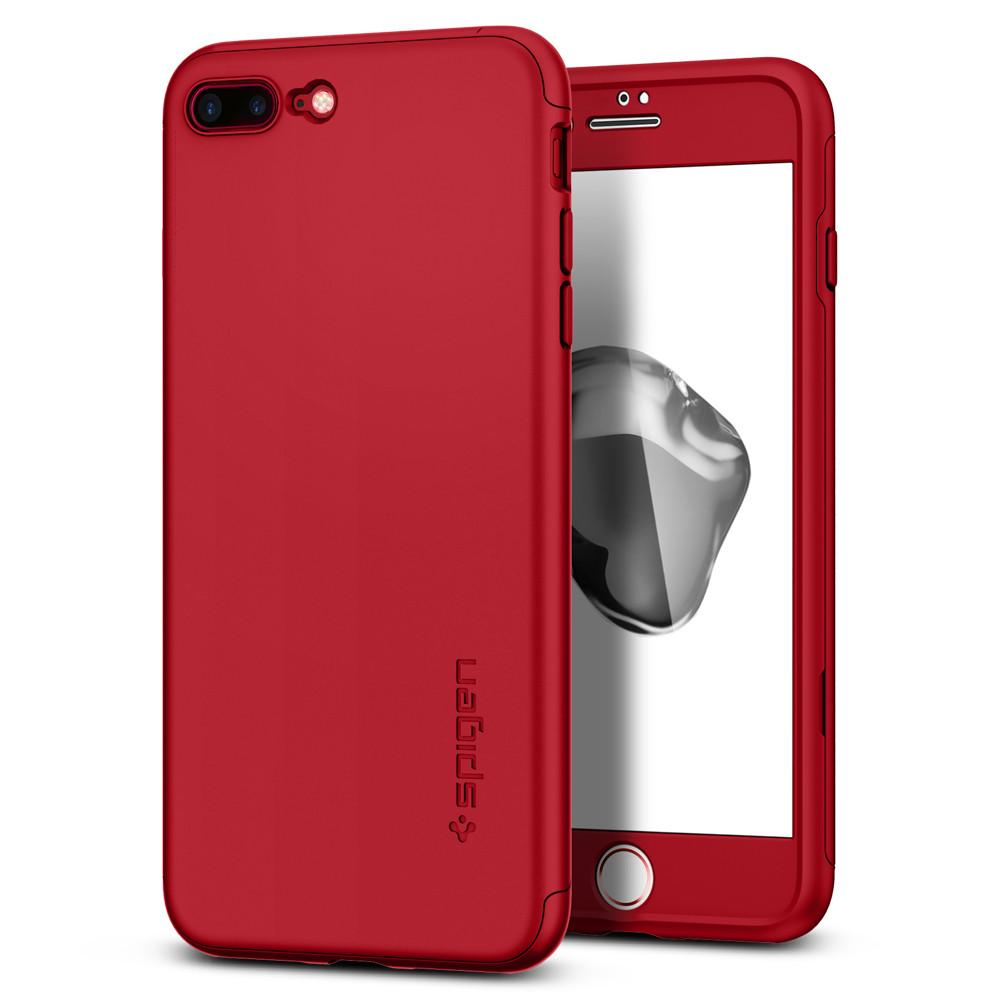 Thin Fit 360	Red Case	back design and a front view of the edge around the	iPhone 7 Plus	device.
