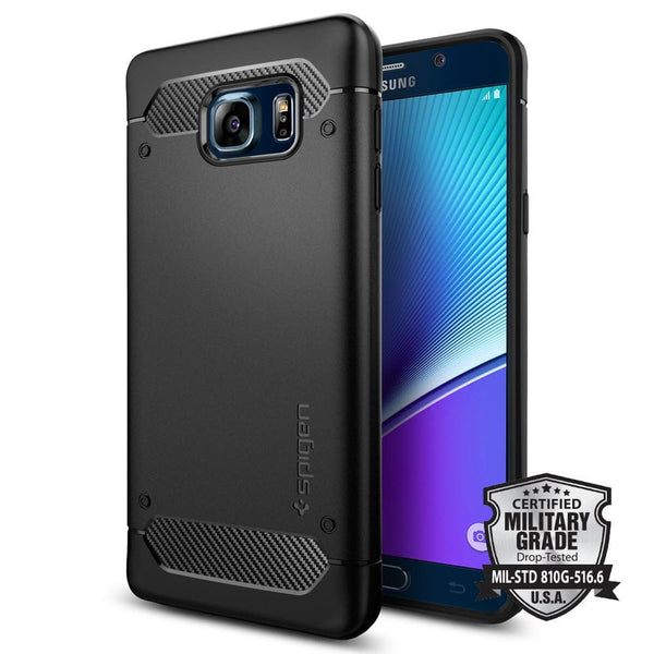 size 40 cd00a e4d6d Galaxy Note 5 Case Rugged Armor - Black / In Stock