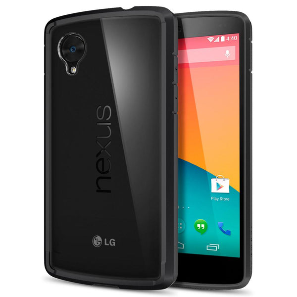 Nexus 5 case ultra hybrid black spigen inc for Spigen nexus 5 template
