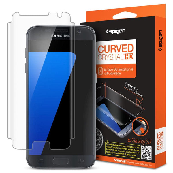 new style 2747c 88b49 Galaxy S7 Screen Protector Curved Crystal HD - Clear / In Stock