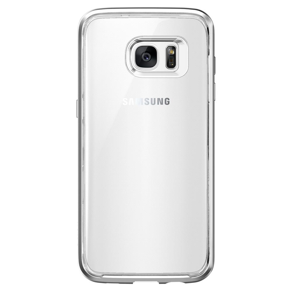 Galaxy S7 Edge Case Neo Hybrid Crystal in satin silver showing the back