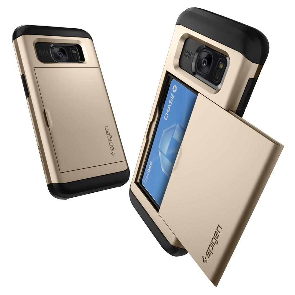 Slim Armor CS	Champagne Gold	Case	back design and a front view of the edge around the	Galaxy S7 Edge	device.