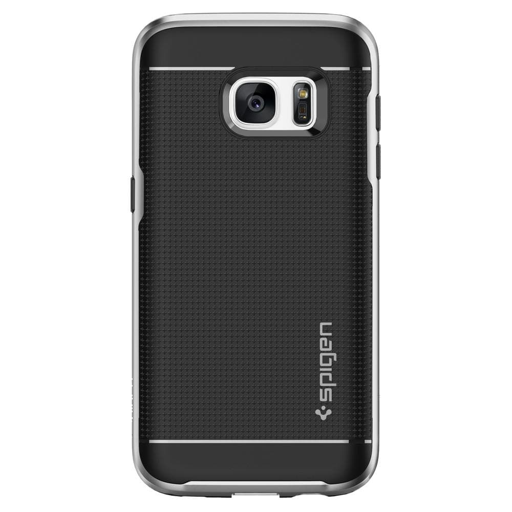 Neo Hybrid	Satin Silver	Case	facing backwards showing the back design with the camera cutout on the	Galaxy S7	device.