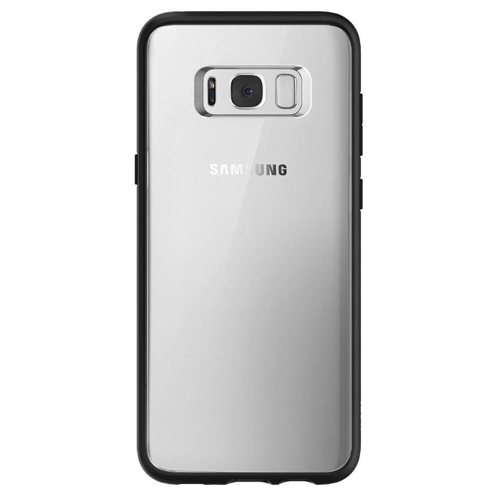 Ultra Hybrid	Matte Black	Case	facing backwards showing the back design with the camera cutout on the	Galaxy S8	device.