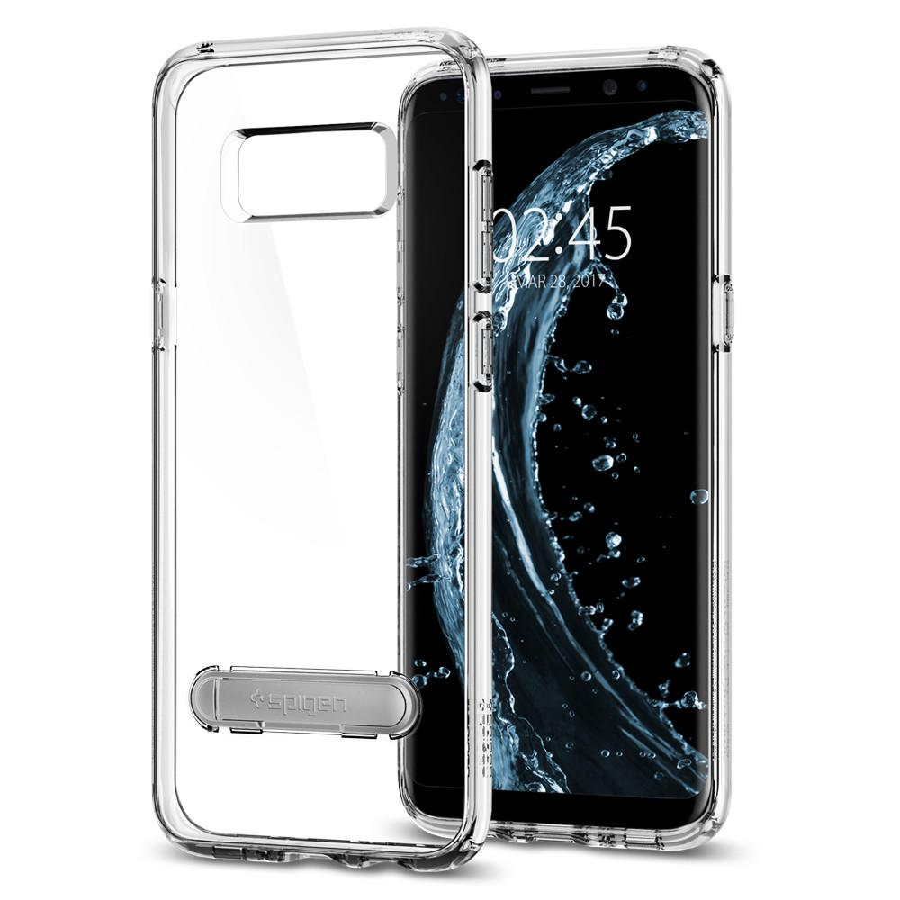 Ultra Hybrid S	Crystal Clear	Case	back design and a front view of the edge around the	Galaxy S8+	device.