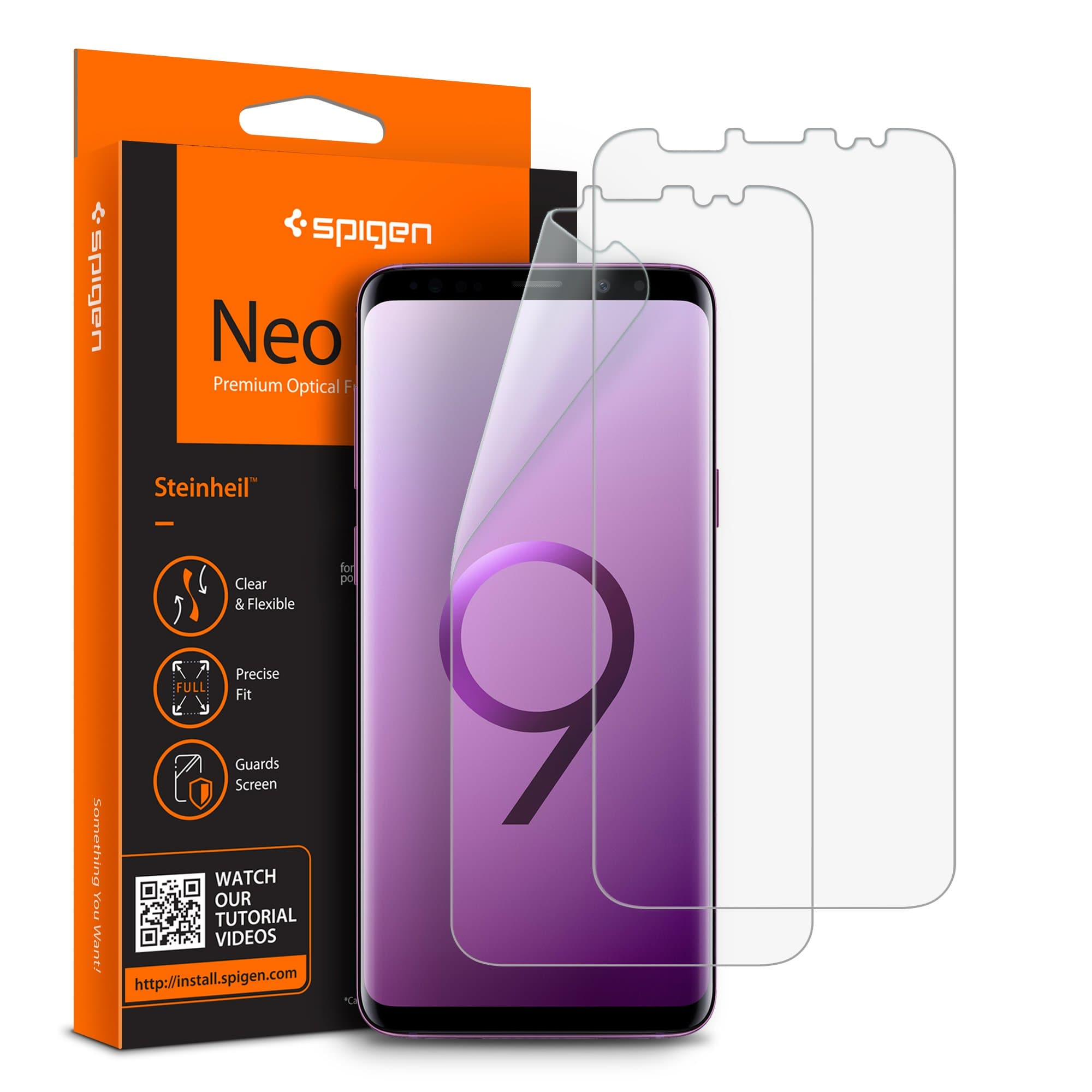 galaxy s9 plus screen protector neo flex hd spigen inc. Black Bedroom Furniture Sets. Home Design Ideas