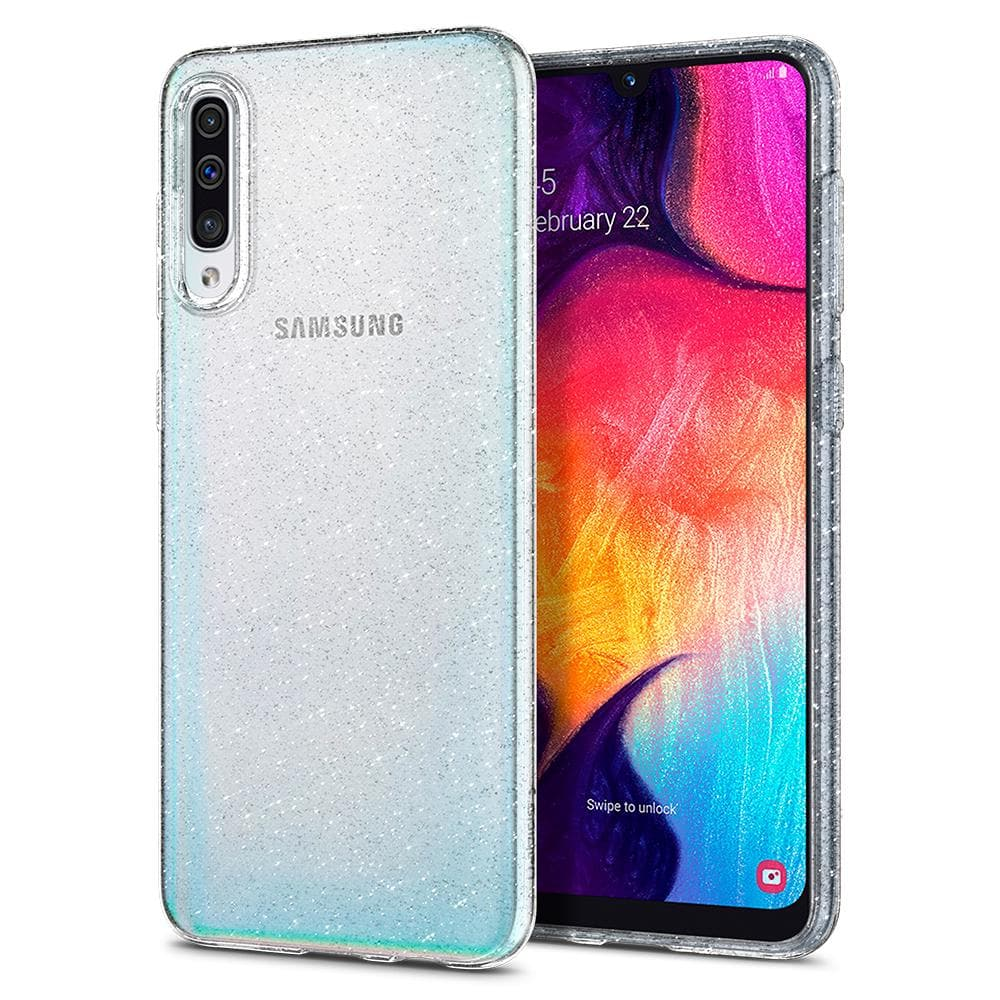 Liquid Crystal Glitter	Crystal Quartz	Case	back design and a front view of the edge around the	Galaxy A50s / A30s / A50	device.