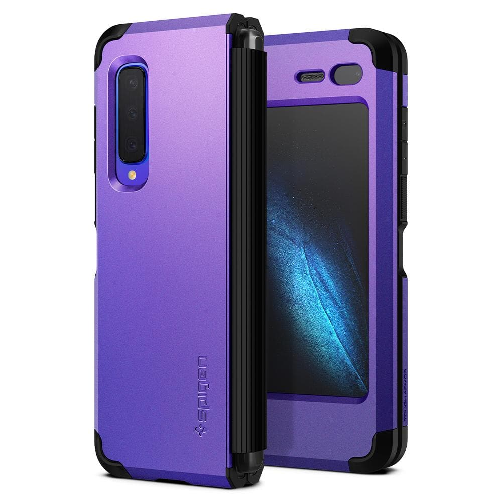 Tough Armor	Astro Blue	Case	back design and a front view of the edge around the	Galaxy Fold	device.
