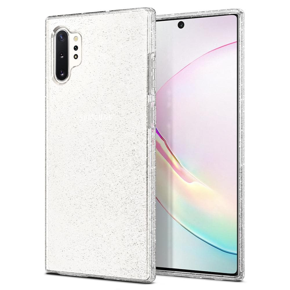 Galaxy Note 10 Plus / 10 Plus 5G Case Liquid Crystal Glitter in crystal quartz showing the back and front