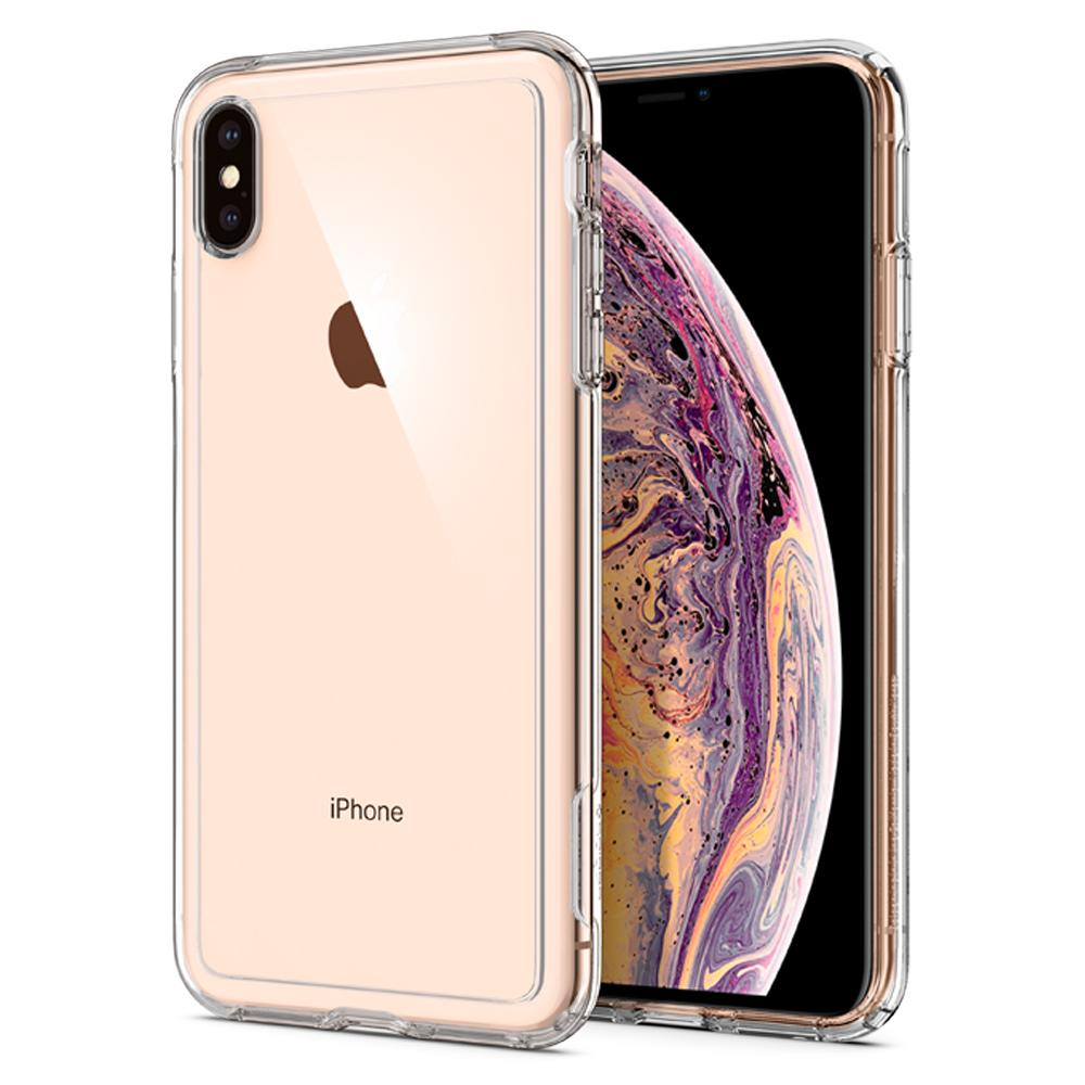 Slim Armor Crystal	Crystal Clear	Case	back design and a front view of the edge around the	iPhone XS Max	device.
