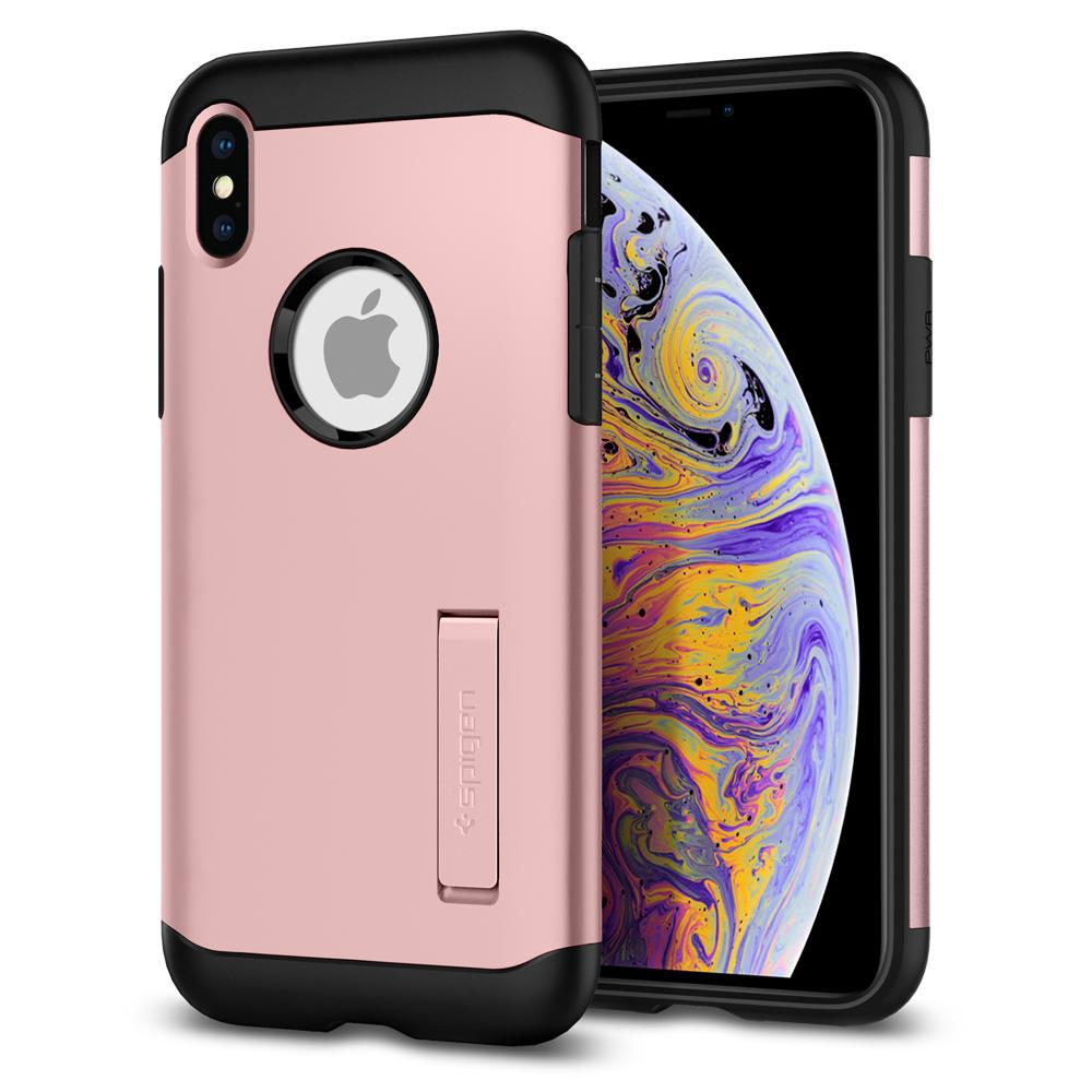 Slim Armor	Rose Gold Case	back design and a front view of the edge around the	iPhone XS Max	device.
