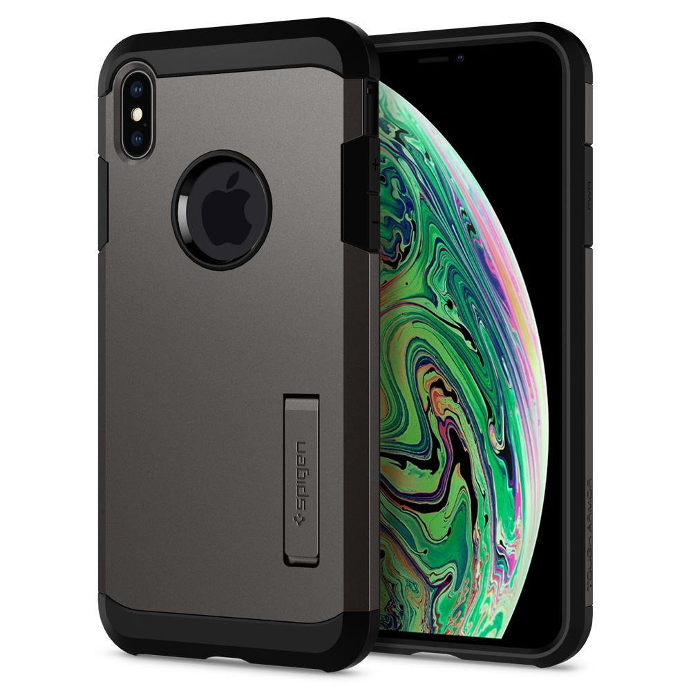 Tough Armor (Ver.2)	Gunmetal	Case	back design and a front view of the edge around the	iPhone XS Max	device.