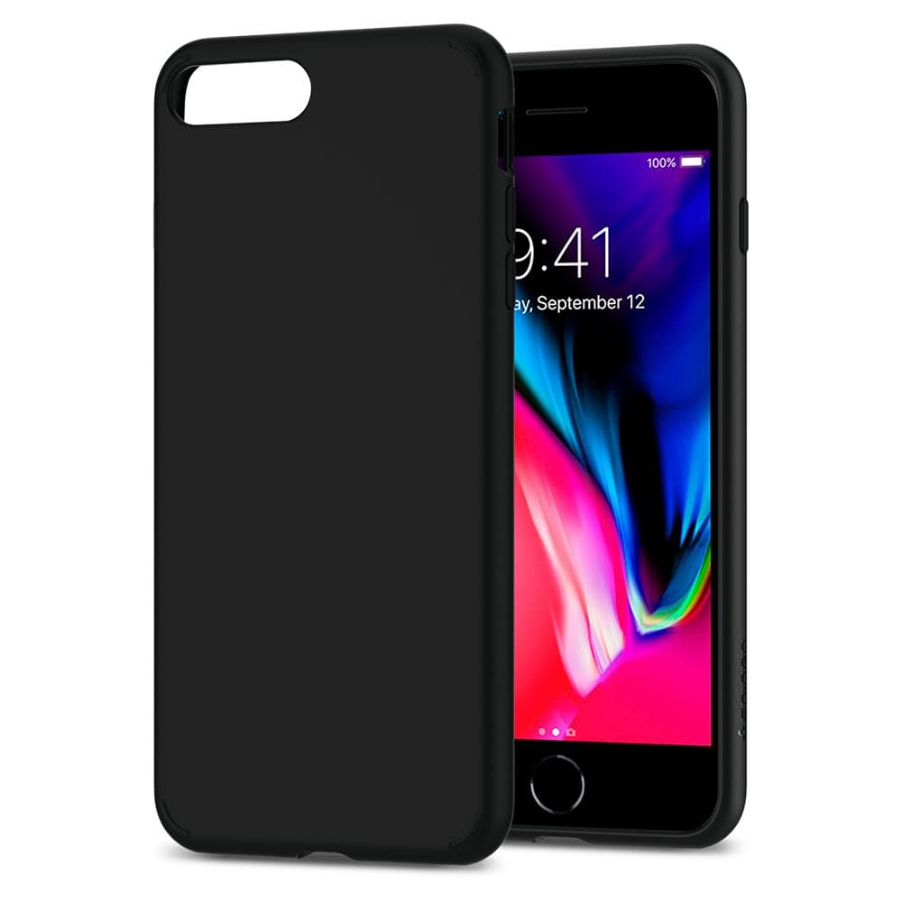 Liquid Crystal 2	Matte Black	Case	back design and a front view of the edge around the	iPhone 8 Plus/7 Plus	device.