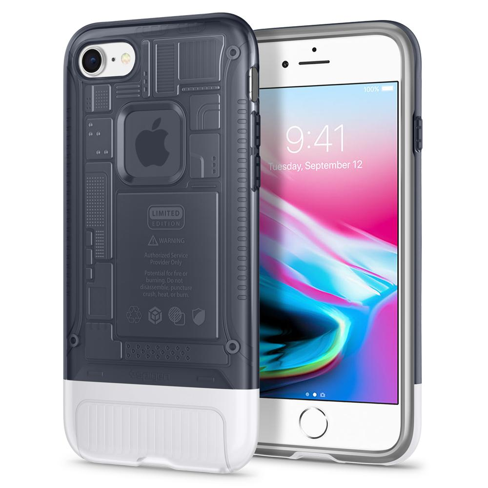 (Premium) Classic C1	Graphite	Case	back design and a front view of the edge around the	iPhone 8	device.