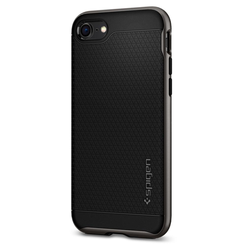 Neo Hybrid 2 (Ver.2)	Gunmetal	Case	facing backwards showing the back design with the camera cutout on the	iPhone 8	device.