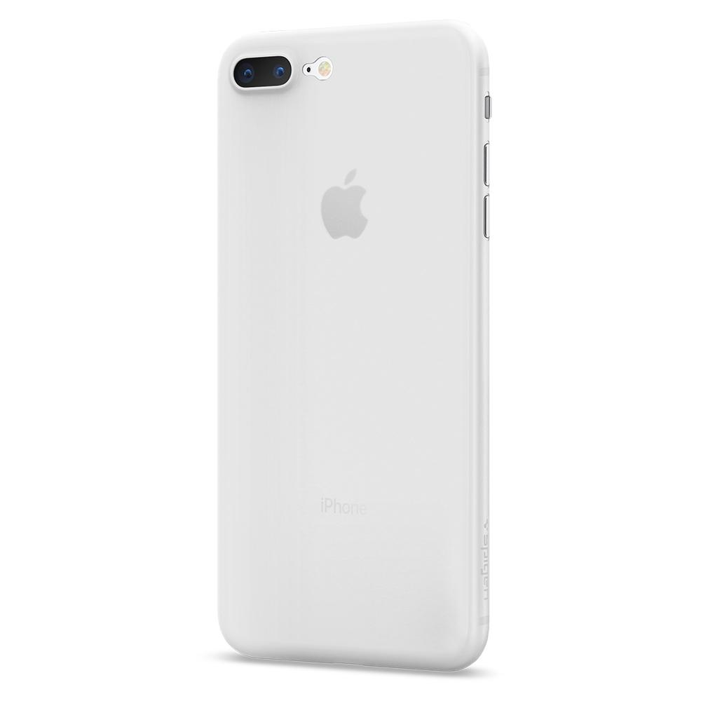 Air Skin	Soft Clear Case	facing backwards showing the back design with the camera cutout on the	iPhone 8 Plus	device.