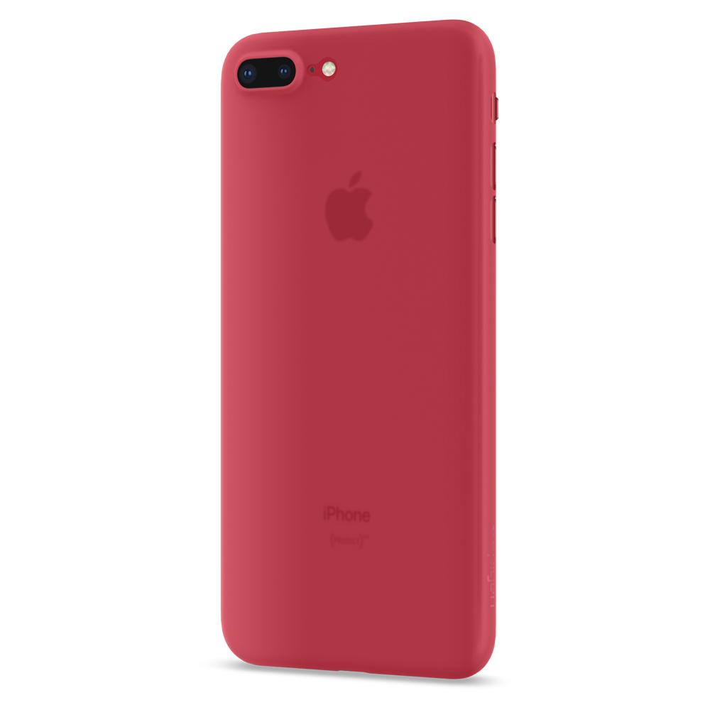 Air Skin	Red	Case	facing backwards showing the back design with the camera cutout on the	iPhone 8 Plus	device.