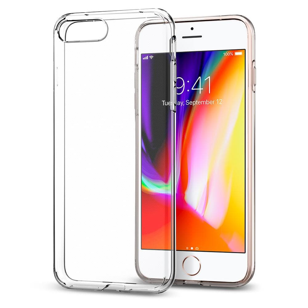 Liquid Crystal 2	Crystal Clear	Case	back design and a front view of the edge around the	iPhone 8 Plus/7 Plus	device.