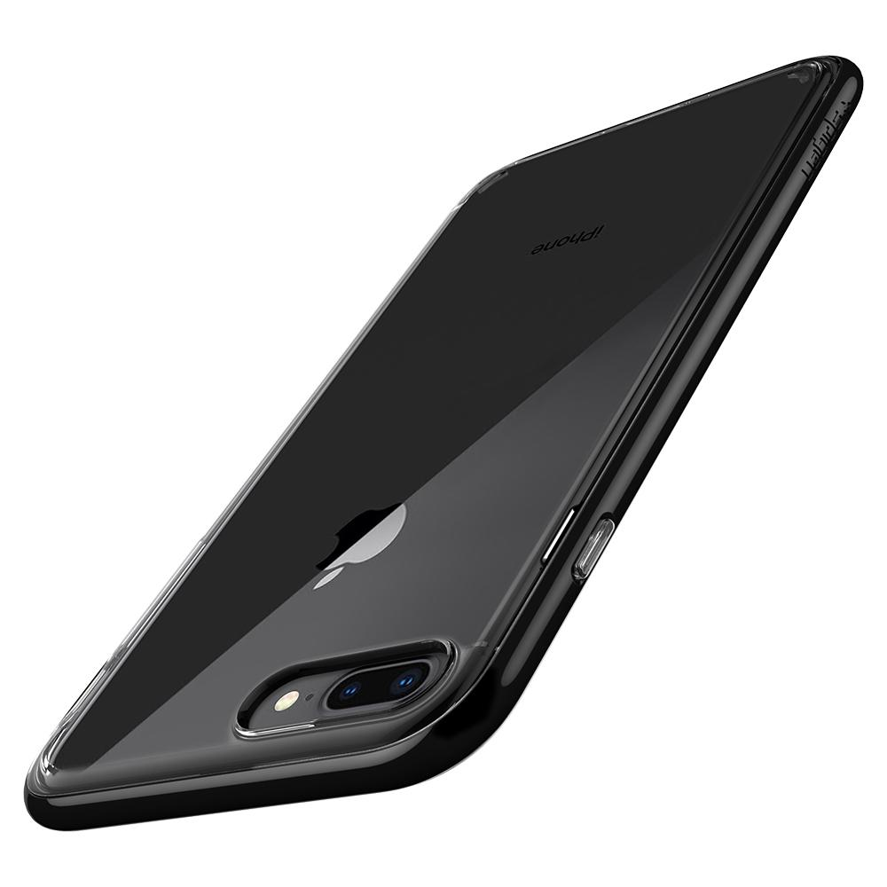 Neo Hybrid Crystal 2 (Ver.2)	Jet Black	Case	showing the back design on the	iPhone 8 Plus	device.