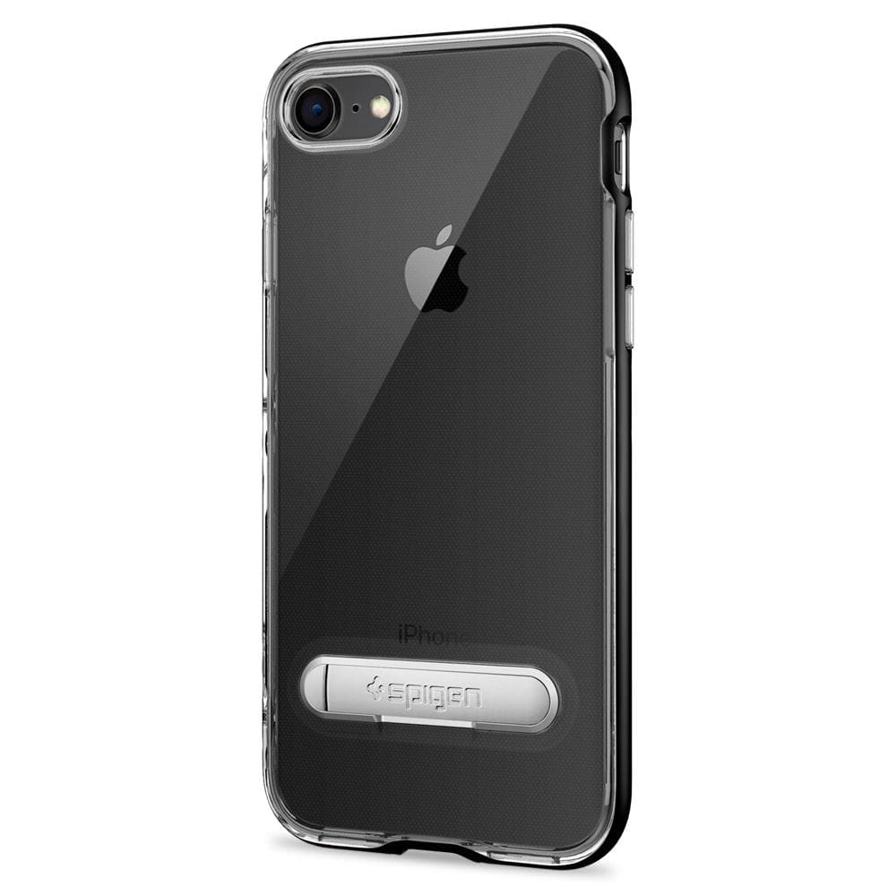 Crystal Hybrid	Black	Case	facing backwards showing the back design with the camera cutout on the	iPhone 8	device.