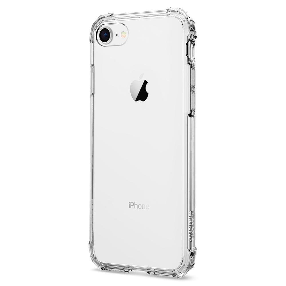 Crystal Shell	Clear Crystal	Case	facing backwards showing the back design with the camera cutout on the	iPhone 8	device.