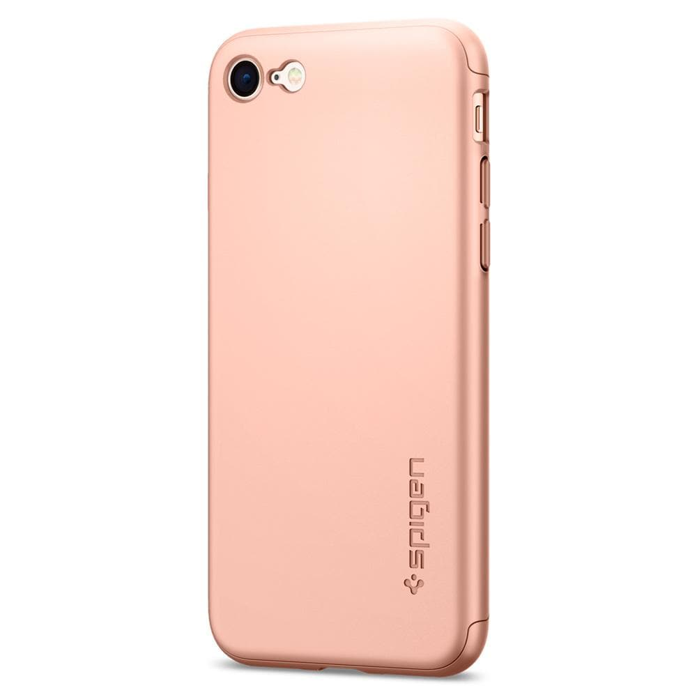 Thin Fit 360	Blush Gold	Case	facing backwards showing the back design with the camera cutout on the	iPhone 8	device.