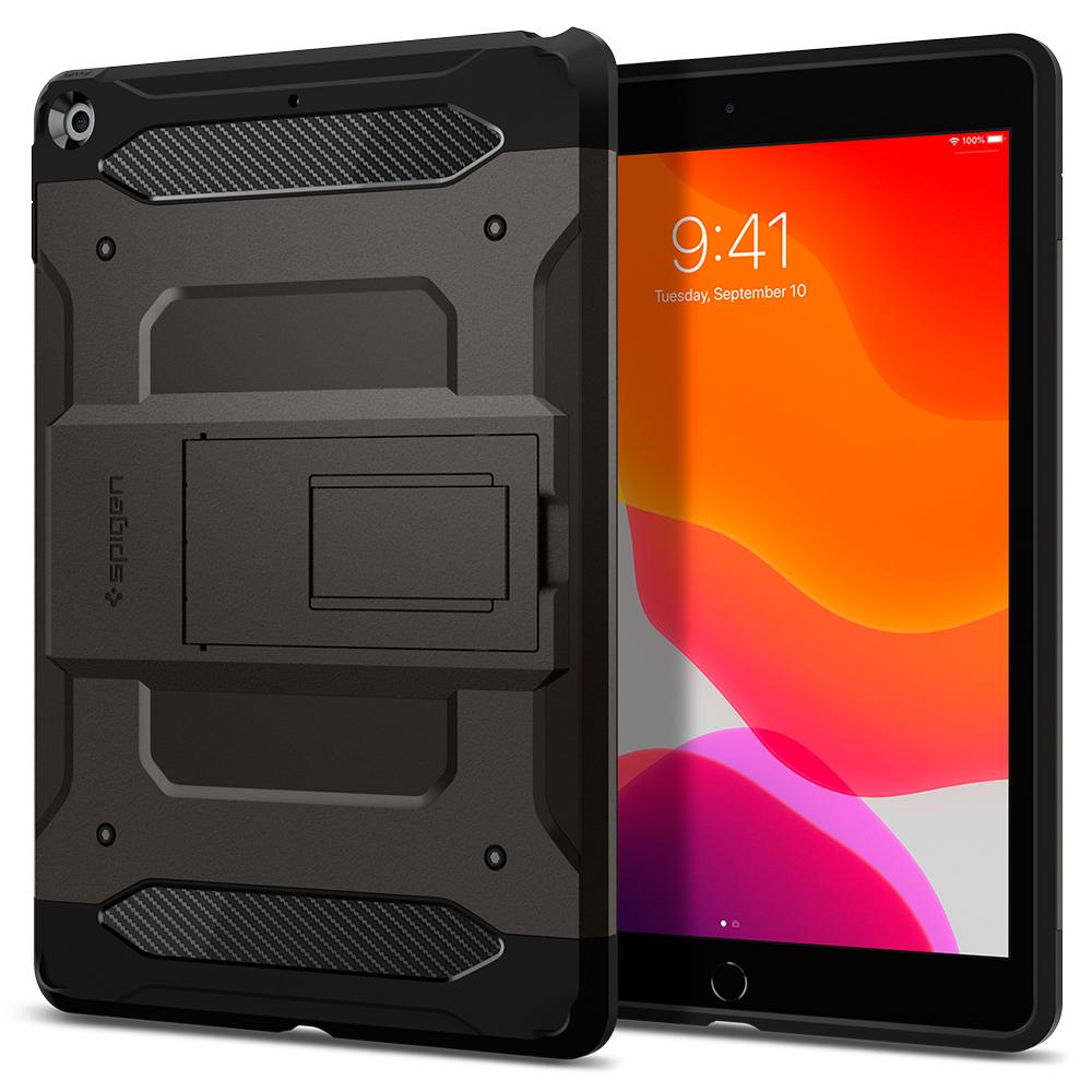 Tough Armor Tech	Gunmetal	Case	back design and a front view of the edge around the	iPad10.2