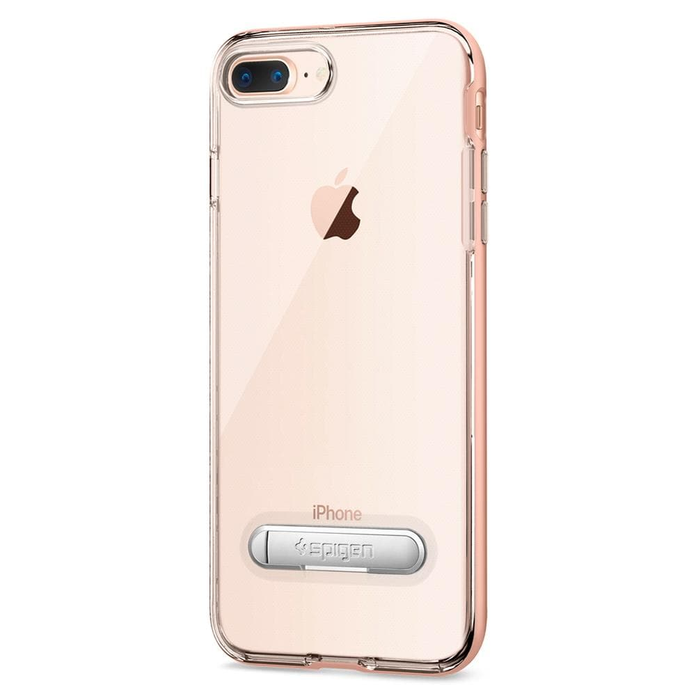 Crystal Hybrid	Blush Gold	Case	facing backwards showing the back design with the camera cutout on the	iPhone 8 Plus	device.