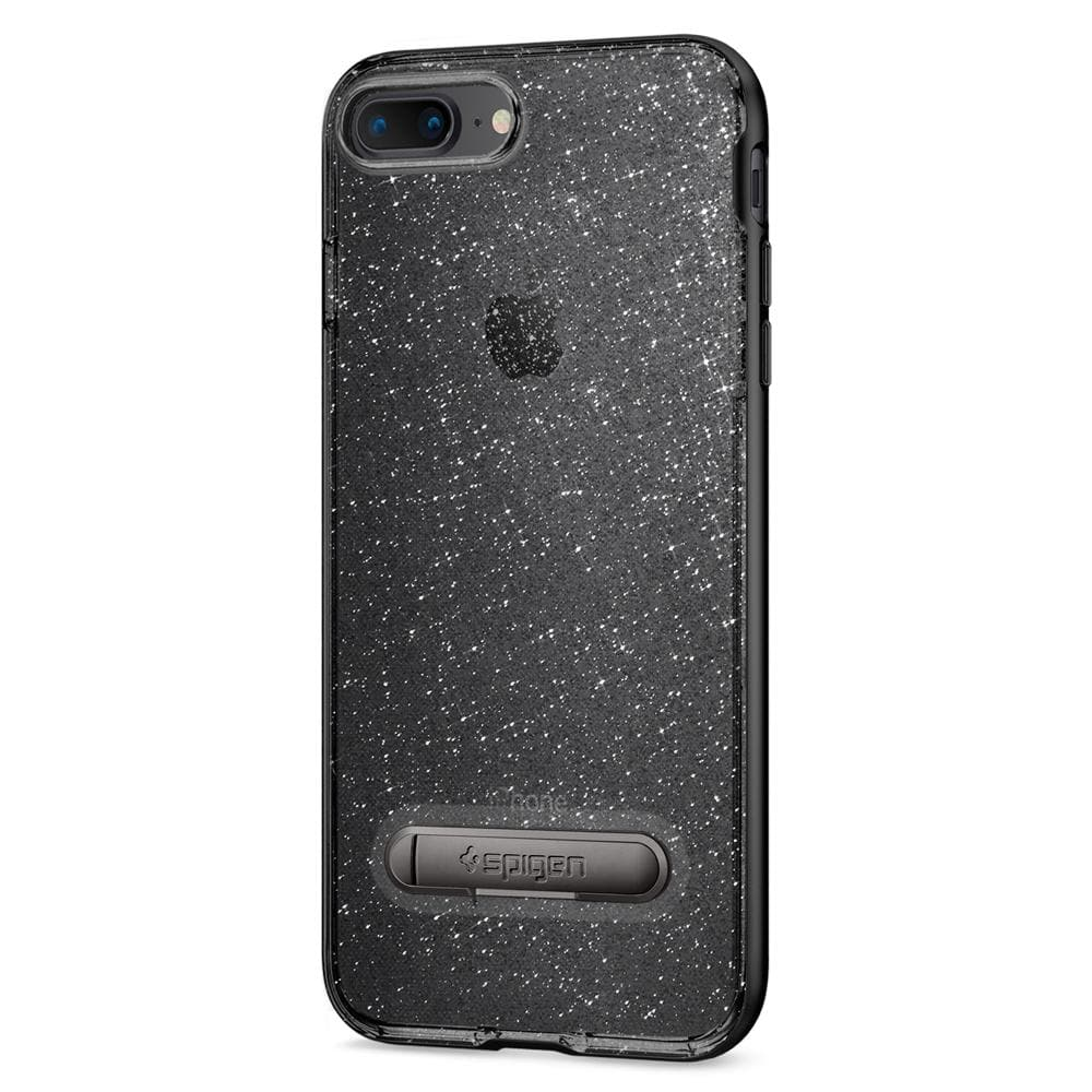 Crystal Hybrid Glitter	Space Quartz	Case	facing backwards showing the back design with the camera cutout on the	iPhone 8 Plus	device.