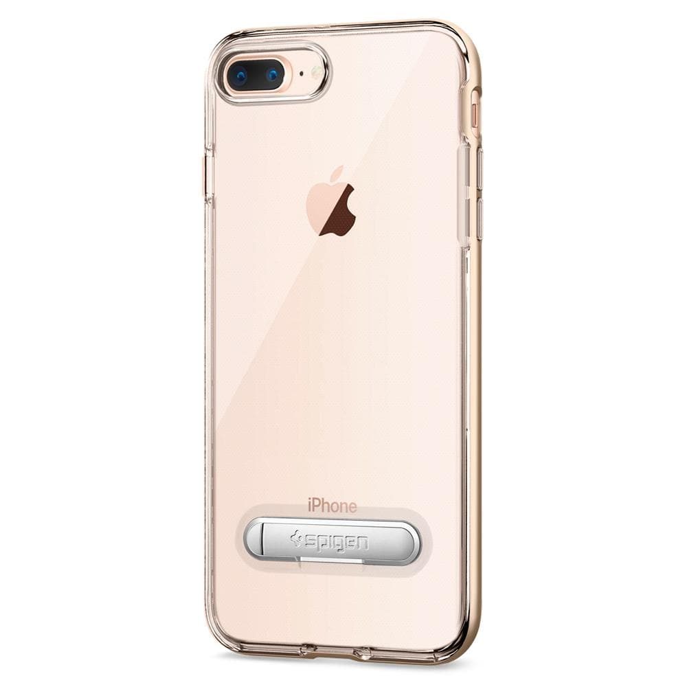 Crystal Hybrid	Champagne Gold	Case	facing backwards showing the back design with the camera cutout on the	iPhone 8 Plus	device.
