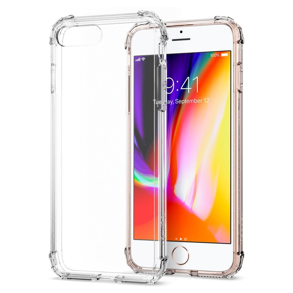 Crystal Shell	Clear Crystal	Case	back design and a front view of the edge around the	iPhone 8 Plus	device.