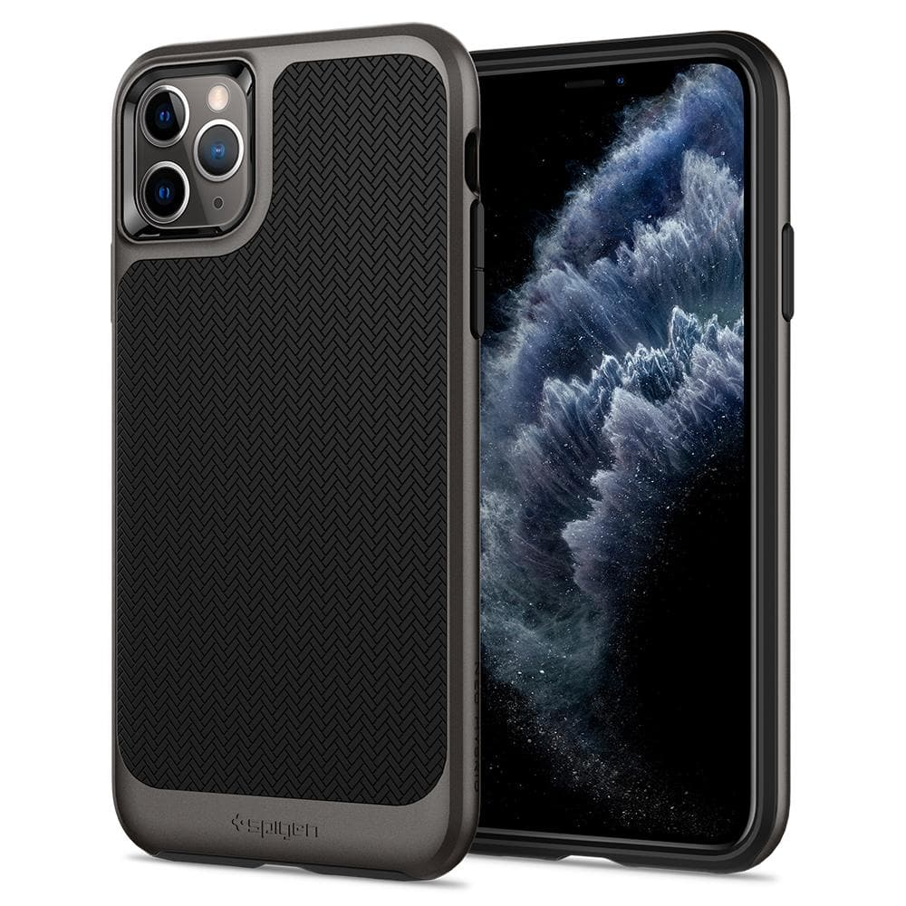 Neo Hybrid	Case	Gunmetal	back design and a front view of the edge around the	iPhone 11 PRO MAX	device.