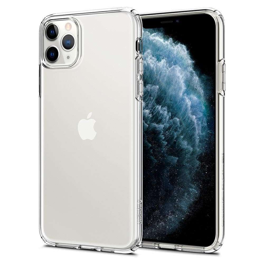 Liquid Crystal	Case	Crystal Clear	back design and a front view of the edge around the	iPhone 11 PRO MAX	device.