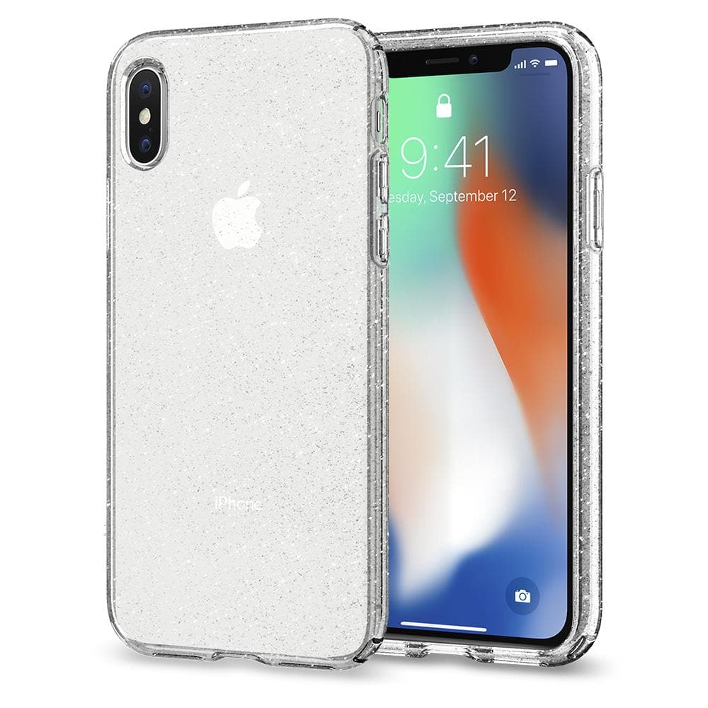 the latest 86714 2a72c iPhone X Case Liquid Crystal Glitter
