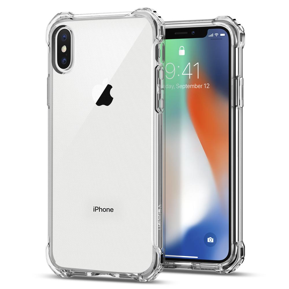 Rugged Crystal	Crystal Clear	Case	back design and a front view of the edge around the	iPhone XS/X	device.