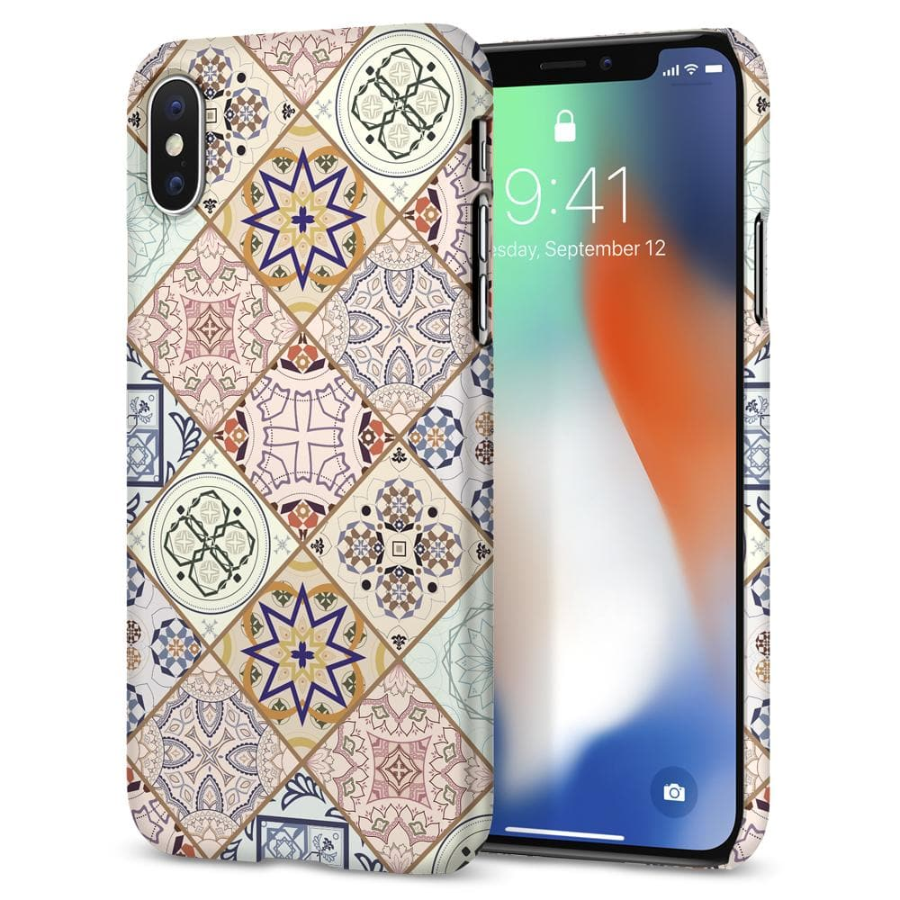 Thin Fit Design Edition	Arabesque 	Case	back design and a front view of the edge around the	iPhone XS/X	device.