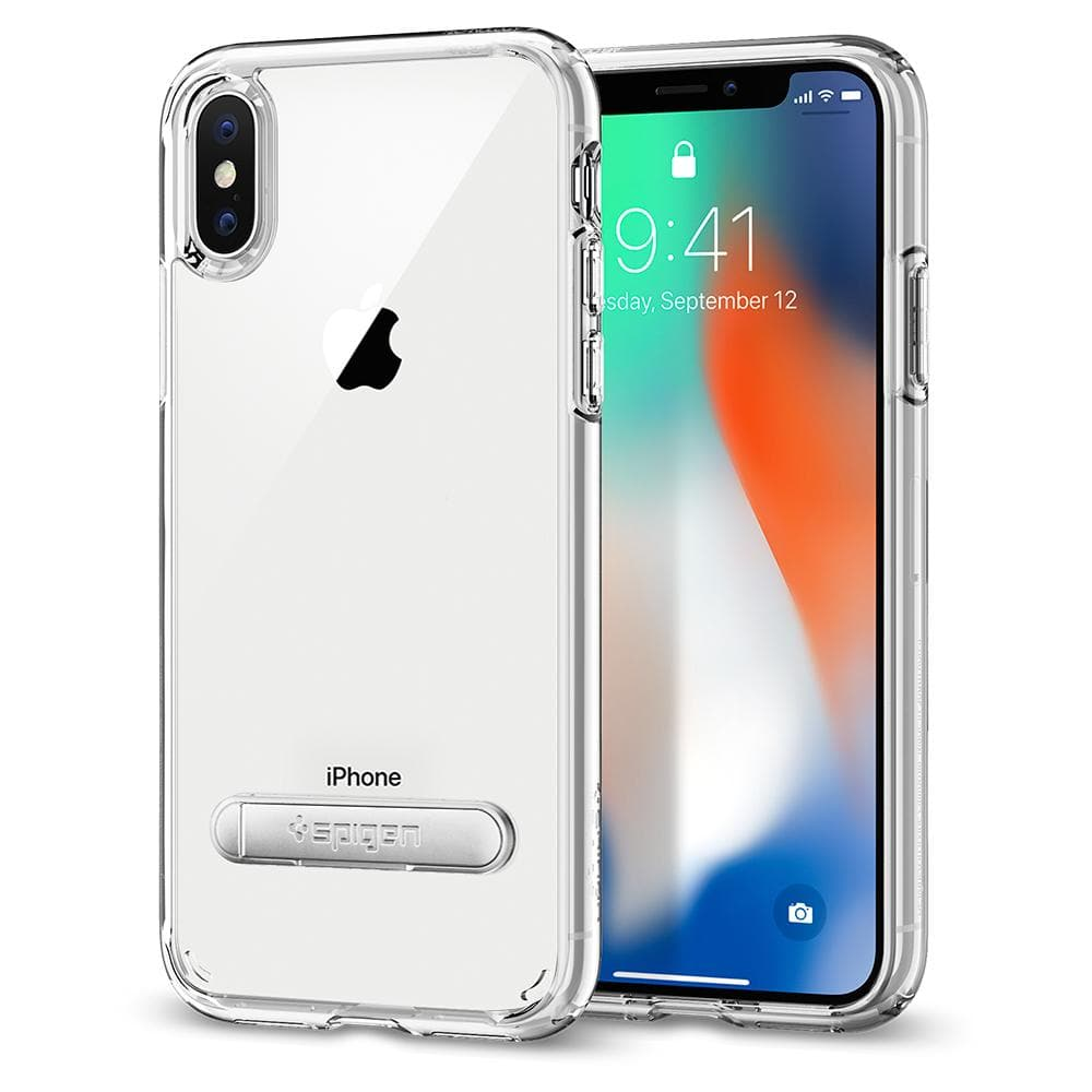 Ultra Hybrid S	Crystal Clear	Case	back design and a front view of the edge around the	iPhone XS/X	device.