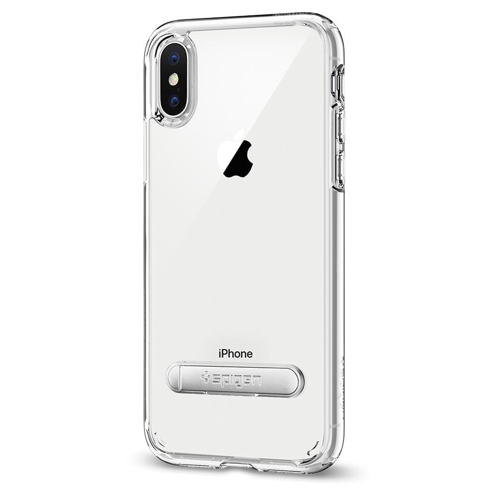 Ultra Hybrid S	Crystal Clear	Case	facing backwards showing the back design with the camera cutout on the
