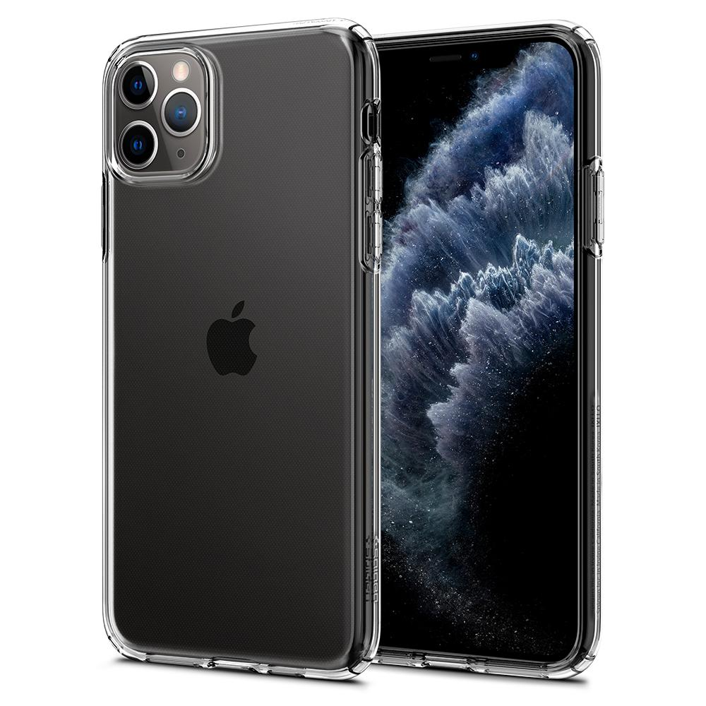 Liquid Crystal	Case	Crystal Clear	back design and a front view of the edge around the	iPhone 11 PRO	device.