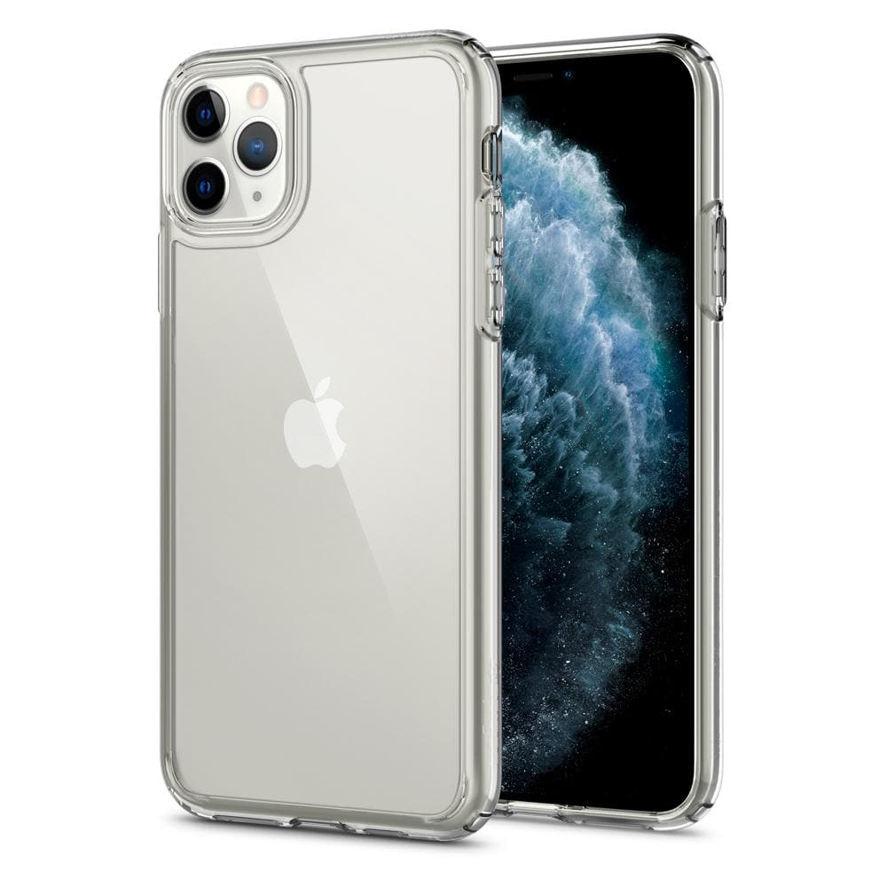 Ultra Hybrid	Case	Crystal Clear	back design and a front view of the edge around the	iPhone 11 PRO MAX	device.