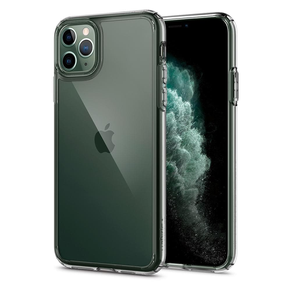Ultra Hybrid	Case	Crystal Clear	back design and a front view of the edge around the	iPhone 11 PRO	device.